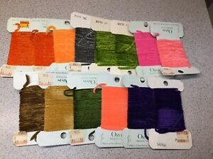 Large Fly Tying Lot Of ORVIS Brand Chenille Lot Of 14 Pcs.  Lot #1