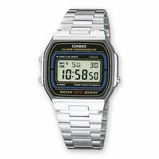 Casio Digital Steel Vintage Style A164WA-1VES News Unisex Chronograph LED New