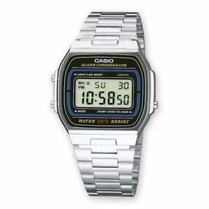 Casio digital steel vintage a164wa-1ves Novelty Chronograph Unisex nuoco