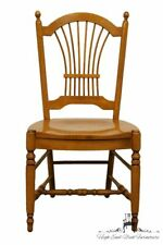ETHAN ALLEN Casual Dining Wheat Back Dining Side Chair 16-6502 w. 247 Caramel...