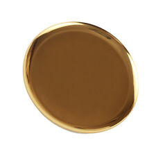 Gold Metal Round DECORATIVE Serving Tray Makeup Holder Display Stand 11 Inch