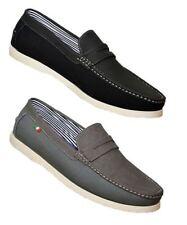 Zapatos informales de hombre mocasines color principal negro de lona