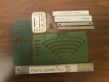 Vintage Drafting Instruments Starrett Lietz OKI Pickett Assortment