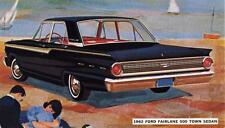 Old Print.  1962 Ford Fairlane 500 Town Sedan Auto Ad