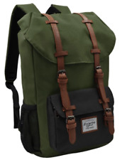Everyday Deal Travel Laptop Backpack(Army Green/Black)