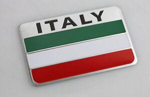 Italian Flag 3D Metal Car Side Fender Grille Decal Emblem Sticker Badge Italy