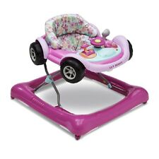 Delta Children Lil Drive Play Car Style Rolling Baby Bouncer Walker Pink