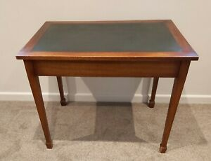 Leather inlay library table desk