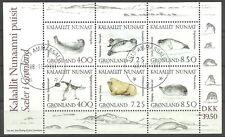 Grönland - Robben gestempelt 1991 Block 3 Mi. 211-216
