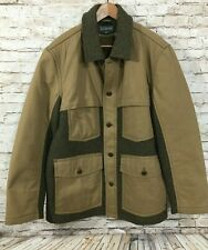 LL BEAN Signature Wool / Waxed Canvas Coat Men's Size LARGE $399.00