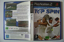 TOP SPIN versione italiana PS2 playstation 2 manuale