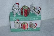 Fitz & Floyd Kitty Kringle Porcelain Trio of Tumblers