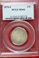 1876 S PCGS MS62 Seated Liberty Quarter!!! #E1797