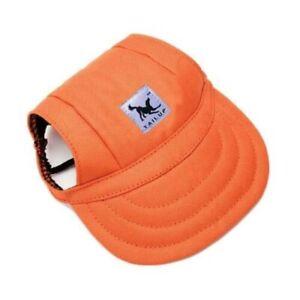 Dog Summer Canvas Visor Baseball Cap Outdoor Pet Sun Hat Puppy - Size S-M-XL