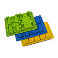 Ice Trays Cube Chocolate Jelly Gummies Candy Jello Molds Silicone Brick Kid