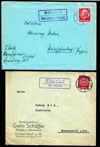 DR 13 Belege mit Landpoststellen Stempel vor 1945