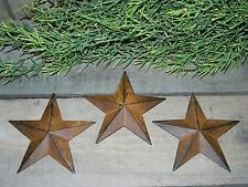 "Set of 3 Rusty Black  Barn Stars 5.5"" Primitive Country Rustic Rust 5 1/2"""