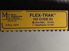 HO Micro-Engineering #10-104 SCALE Code 83 Flex Track NON WEA BIGDISCOUNTTRAINS