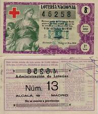 Año 1958. 100 Ptas Décima parte del billete. 4 de Octubre Cruz Roja.
