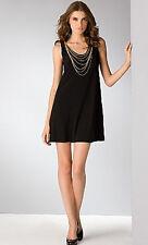 ABS   NWT  $165 Sexy Little   Black MINI Necklace  Dress XS    -Allen Schwartz