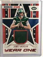 2020 James Morgan Rookies & Stars Year One Relic #YO-JM. Jets RC. FREE SHIPPING