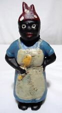 VINTAGE CAST IRON COIN BANK 1920`s - AUNT JEMIMA W/ SPOON