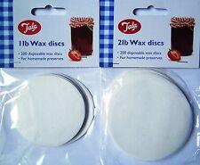 200x 1lb or 2lb Tala Wax Discs Covers Jam Preserves Chutney Pickle Homemade Seal