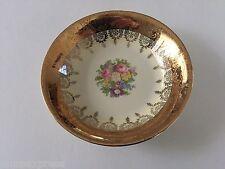"Homer Laughlin China HLC2304 Eggshell Nautilus Gold Flowers - 5-1/4"" FRUIT BOWL"