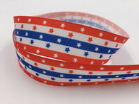 DIY 5 Yard 1'' 25MM little stars Printed Grosgrain Craft  Hair Bow Sewing Ribbon