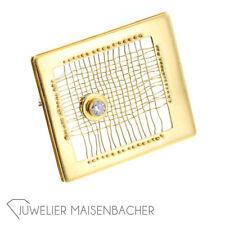 Gold herreros Engelhardt-nuez trenzado-broche * brillante *