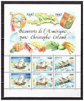 S25690) Monaco MNH 1992 Europa Discovery Of America S/S Columbus