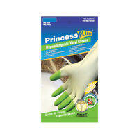 Princess Hypoallergenic Plush Pvc Gloves Medium. **Free Shipping**