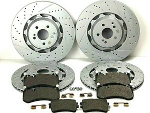 Mercedes S63 & S65 AMG Front & Rear Brake Pads & Rotors Set - Best Quality