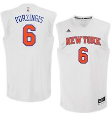 💯% Genuine Kristaps Porzingis New York Knicks adidas Replica Jersey - White S