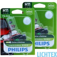 H11 Philips Longlife ecovision - 4-mal una larga vida útil-duo-Pack-Box
