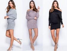 Damenkleider mit Flügelärmeln Normalgröße aus Polyester