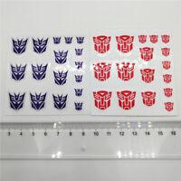 Transformers G1 Autobots Decepticons Logo Sign Symbol Sticker Decal Custom 7*7cm