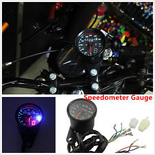 LED Backlight Signal Motorcycle Odometer KMH Speedometer GEAR Gauge Cafe Racer