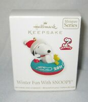 2011 Hallmark Miniature Ornament ~ Winter Fun With Snoopy