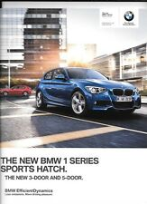 BMW 1 Sport Hatch Benzina e Diesel Modelli Auto vendita opuscolo NOV. 2012 per 2013