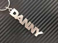 DANNY Personalised Name Keyring Keychain Key Fob Bespoke Stainless Steel Gift
