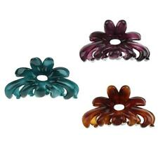3pcs Pince Clip Cheveux Barrette Floral Acrylique Cheveux Bijoux - Couleur