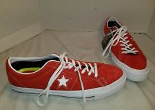 NEW CONVERSE ONE STAR RED OX SUEDE LO TOP SNEAKERS SIZE MEN'S 11 EUR 45
