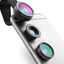 Aukey Obiettivo fotocamera telefono KIT 3 in 1 a Clip 180 ° Fisheye Lens + 110 ° Grandangolo L