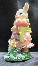 Trippie's Inc Lady Pig Churning Butter Figurine Cat Kitten