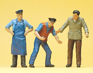 """Preiser 63060 Scale 1:3 2 Gauge 1 Figurines """" Service Personell """" Hand Painted #"""