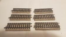 5107 1/2 : Lot de 6 rails droits 90mm - Voie M - Märklin HO (PK37)