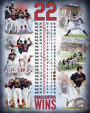 Cleveland Indians 22 Consecutive Wins Composite 8x10 Photo