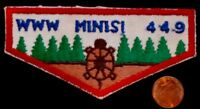 MINISI LODGE 449 OA ALHTAHA COUNCIL NJ PATCH 359 RED TURTLE FLAP CLOTH BACKING