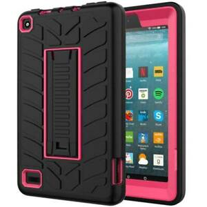 For Amazon Kindle Fire 7 Anti-Drop Armor Hybrid Protective Rugged PC Tablet Case
